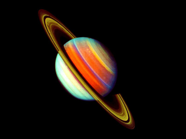 Saturn - False Color - from Voyager2 1981